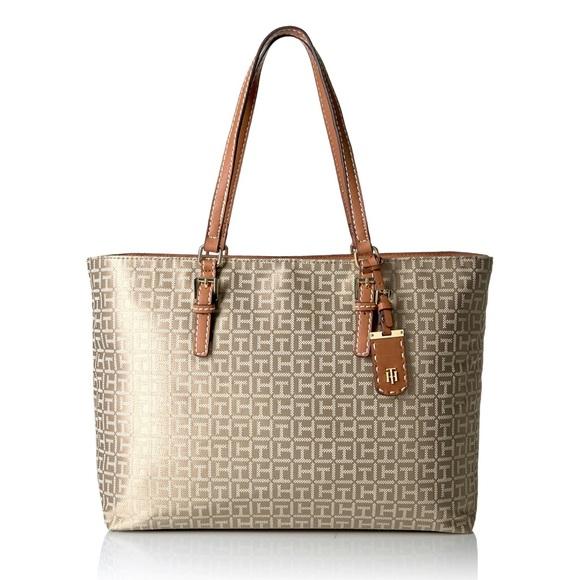 5605634dbd6 Tommy Hilfiger Bags   Monogram Julia Tote Shoulder Bag   Poshmark